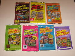 Topps Wacky Packages  All New Series 1 to 7 Packs  7 Packs Sealed