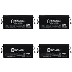 Mighty Max 12v 250ah Battery For Bucyruserie Co 8200 Crane 02-04 850cca - 4 Pack