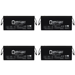 Mighty Max 12v 250ah Sla Battery Replacement For Solar System - 4 Pack