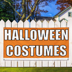 Vinyl Banner Sign Halloween Costumes #1  Style F Marketing Advertising Orange