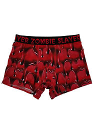 Mens Red Zombie Slayer Bloody Graphic Halloween Boxer Briefs