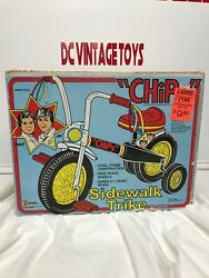 """Vintage 1981 Empire """"chips Tv Show Side Walk Trike Ponch And Jon Very Rare Look"""