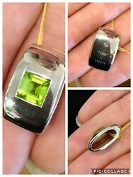 Gorgeous New W/ Tags Chaumet 18k White Gold And Aaa Peridot Pendant Numbered