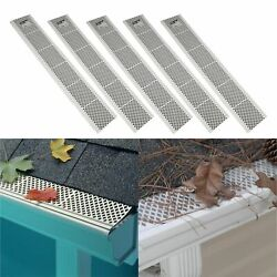 5 Pack Snap-in White Gutter Guard Cover 3ft Screen Filter Leaf Debris Protection