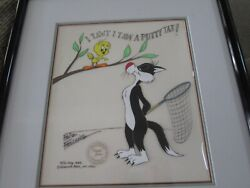 Friz Freleng Sylvester And Tweety Out On A Limb Limited Edition Cel 1982 100 Made