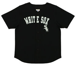 MLB Baseball Boys Youth Chicago White Sox Button Down Jersey Shirt Black $14.99