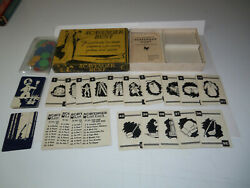 Deco 1933 Scavenger Hunt Playing Card Game Complete All 45 Cards Milton Bradley