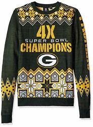 Forever Collectibles Nfl Men Green Bay Packers Super Bowl Commemorative Sweater