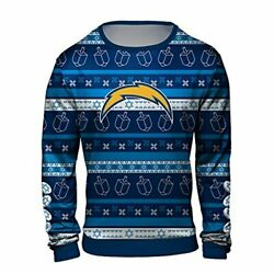 Forever Collectibles Nfl Men's Los Angeles Chargers Hanukkah Ugly Sweater