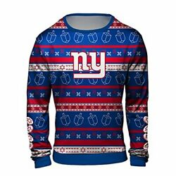 Forever Collectibles Nfl Men's New York Giants Hanukkah Ugly Crew Neck Sweater