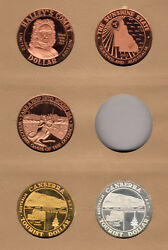 Australia. 1980s Tourist Dollars X 5 Diff 1 Silver Prooflike In Display Page
