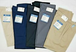 Haggar Mens Premium No Iron Khaki Straight Fit Flat Front Stretch Pants New A1