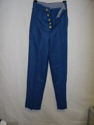 E2276-38 Ww 1-1930and039s Usmc Enlisted Dress Blue Wool Trousers Size 38 Wr1d