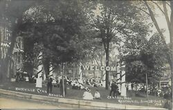 Central Park, Centennial, Old Home Week, Rockville Ct Real Photo Rppc '08 Newell