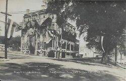 Rockville House Centennial And Old Home Week Ct Real Photo Rppc 1908 By Quimby