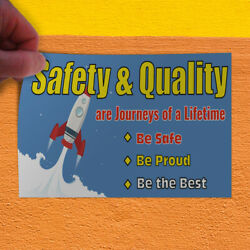 Decal Sticker Safety & Quality Journeys Of A Lifetime Best Outdoor Store Sign