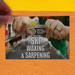 Decal Sticker Ski Waxing & Sharpening Sports Ski Waxing Outdoor Store Sign