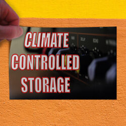 Decal Sticker Climate Controlled Storage Automotive Climate Control Store Sign