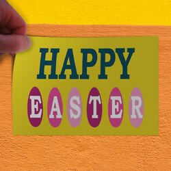 Decal Sticker Happy easter yellow Holidays and Occasions Easter Store Sign