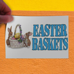 Decal Sticker Easter Baskets With An Image Style T easter basket Store Sign