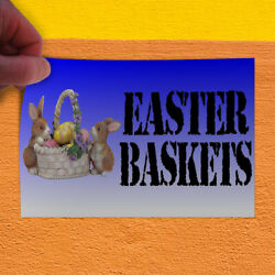 Decal Sticker Easter Baskets With An Image Style S easter basket Store Sign