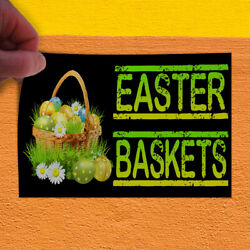 Decal Sticker Easter Baskets With An Image Style R easter basket Store Sign