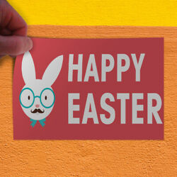 Decal Sticker Happy Easter #1 Style A Holidays and Occasions Outdoor Store Sign