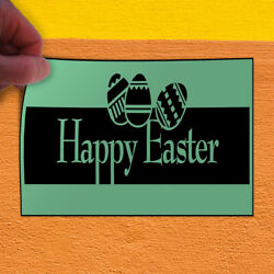 Decal Sticker Happy Easter Style5 Holidays and Occasions Outdoor Store Sign