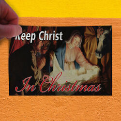 Decal Sticker Keep Crist In Christmas Holidays and Occasions Christ Store Sign