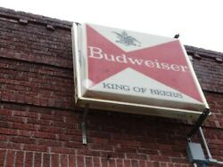 Commercial Outdoor 2 Sided 4x4ft Antique Budweiser Lighted Bar Sign