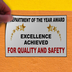 Decal Sticker Quality And Safety AwardWhiteBlack Lifestyle Outdoor Store Sign