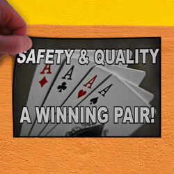 Decal Sticker Safety And Quality A Winning Pair Lifestyle Outdoor Store Sign