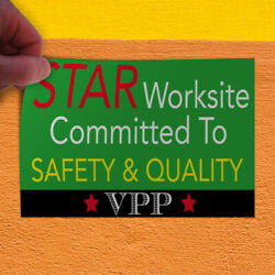 Decal Sticker Safety & Quality Vpp Lifestyle Safety Outdoor Store Sign Green