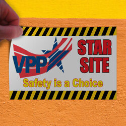 Decal Sticker Vpp Star Site Safety Is A Choice #1 Lifestyle Safe Store Sign Red