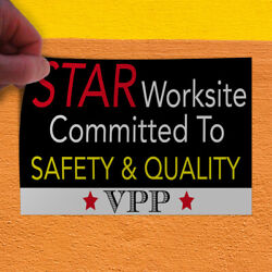 Decal Sticker Worksite Committed To Safety & Quality Lifestyle Store Sign Red