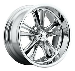 Cpp Foose F097 Knuckle Wheels 17x7 + 17x8 Fits Ford Mustang Falcon Galaxie