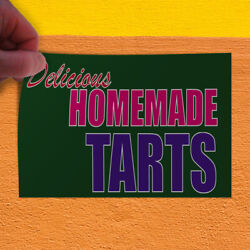Decal Sticker Delicious Homemade Tarts Restaurant & Food Outdoor Store Sign