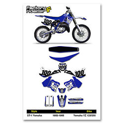 1993-1995 Yz 125 Yz 250 Graphcs Kit / Number Plate / Seat Cover Bundle - St-1