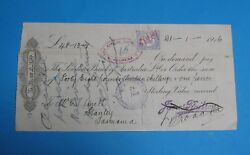 The London Bank Of Australia Stanley Tasmania 1916 With Stamp Duty Stamp Scarce