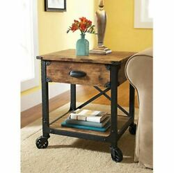Bedside Side Table Stand Coffee Accent Drawer Storage Furniture End Industrial