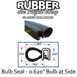 Universal Bulb Seal - 0.620 Bulb At Side - Automotive / Rv / Boat - 12and039
