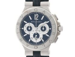 Bvlgari Watches Diagono Caricro 303 Automatic Dg42Sch Leather Belt Chronograph