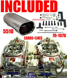 Quick Fuel Q-1050-b2 1050 Blower Gas Supercharger Carbs With Scoop Lines Linkage