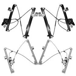 4pc Front+Rear Left+Right Power Window Regulator w/ Motor Fit Chevy/GMC/Cadillac