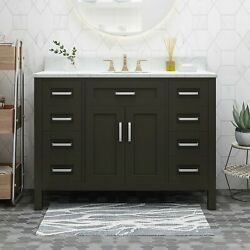 Greeley Contemporary 48 Wood Bathroom Vanity Counter Top Not Included