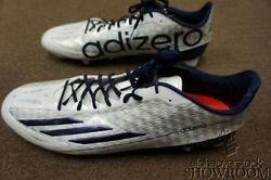 Brand New Men's Adidas Athletic Football Adizero 5-star 4.0 White And Blue Shoes