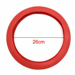 32cm Outer Dia Car Rubber Antislip Comfortable Steering Wheel Cover Red