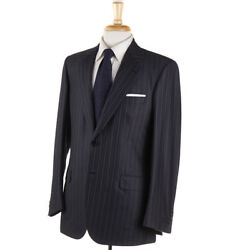 Nwt 9390 Brioni Charcoal Gray Stripe Super 180s Wool Suit 39 R Two-button