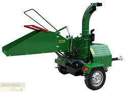 WOOD CHIPPER LEAF SHREDDER MULCHER DIESEL 22HP Electric Start Trailer Hitch New