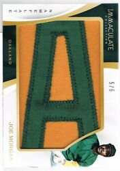 2017 Joe Morgan Immaculate Collection Jumbo Materials Nameplate Letter A D 5/6